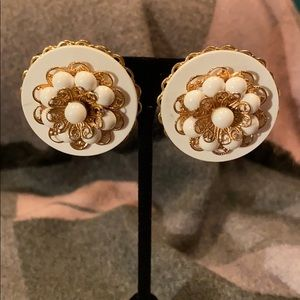 Jewelry - Classic Clip on earrings with Goldtone accents